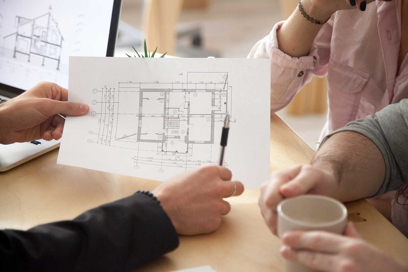 Your needs with contractor discussing plan