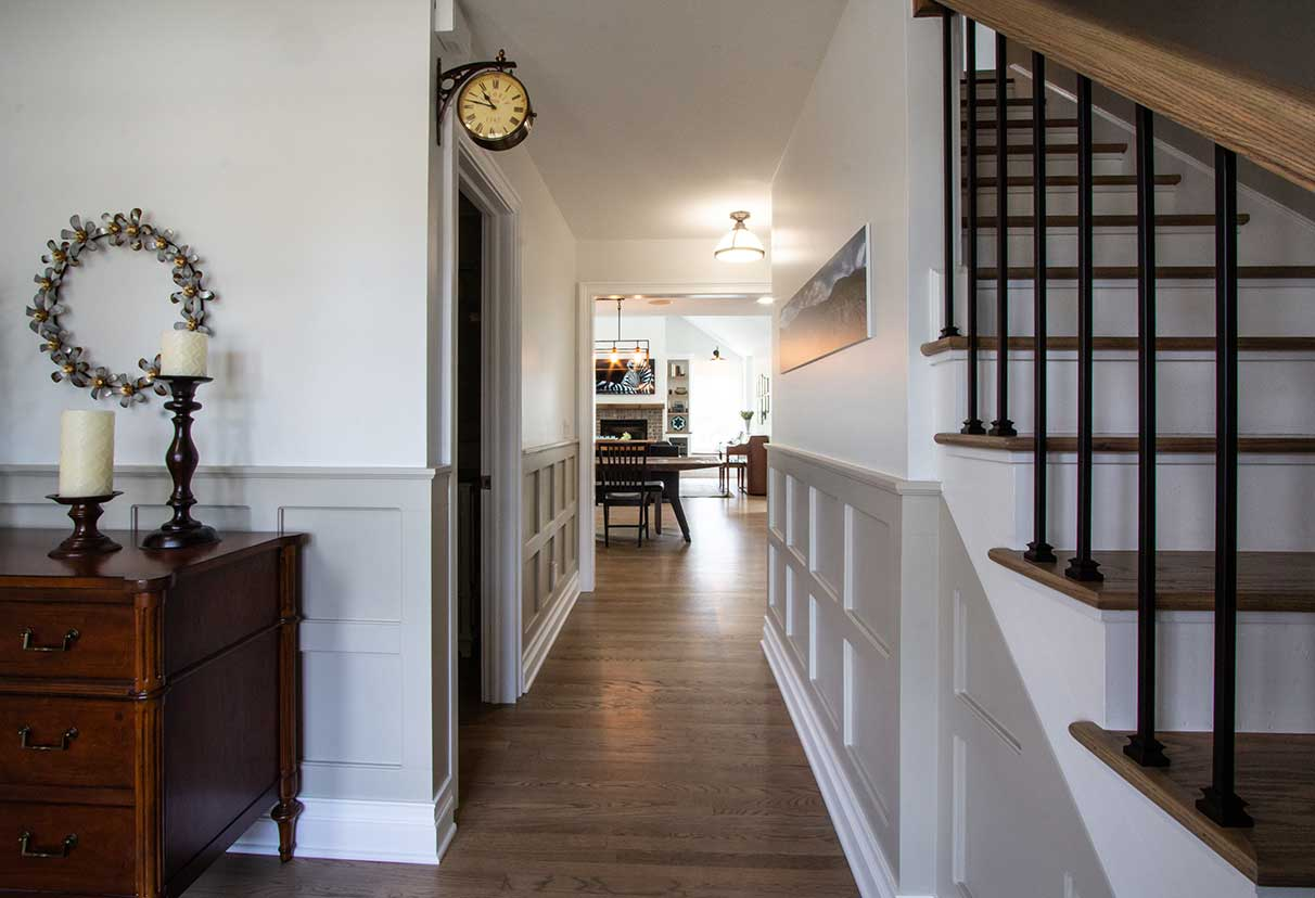 Stairs leading to dining room